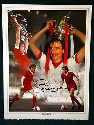 PhiL Thompson Signed Liverpool Large Photograph