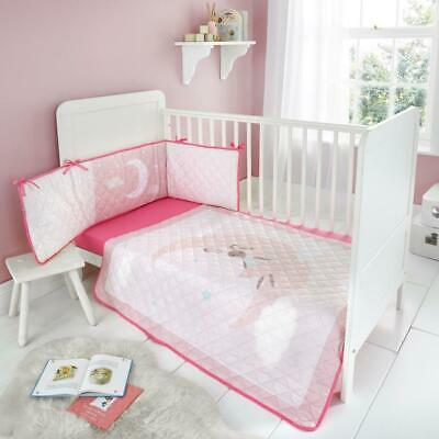 Baby Bedding Set Nursery Cot Bed Long All Round 4-sided Bumper
