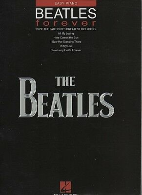 The Beatles Forever Easy Piano Sheet Music Vocal Melody Pop Songs Book