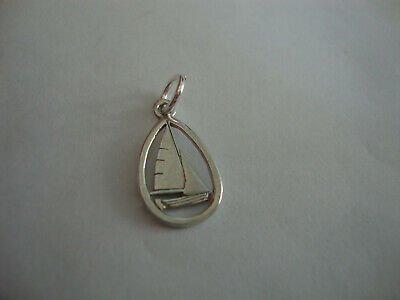 Nice little old sterling silver vintage retro sailing boat charm pendant