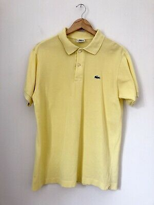 Men's Clothing Shirts Lacoste Mens Pastel Yellow Vintage Polo Shirt From 90s Size 4 Uk M