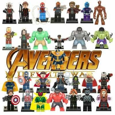 Lego Marvel Avengers Super Heroes End Game Minifigure Iron Man Thor Figures Toy