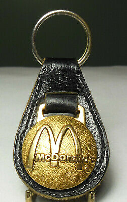 🍟 McDonald's Co. logo emblem employee service award keyring key chain fob