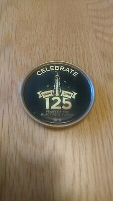 Merlin Pop Badge Blackpool Tower 125 Years.