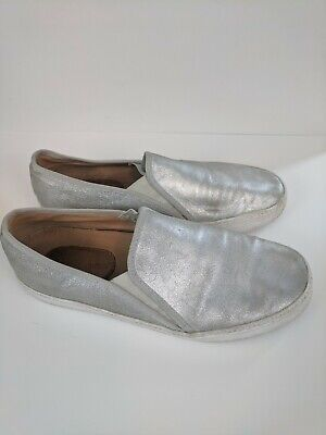 13c6ff89977 CORSO COMO DUFFY LEATHER LOAFER SHOES SIZE 8.5 M Silver Metallic ...