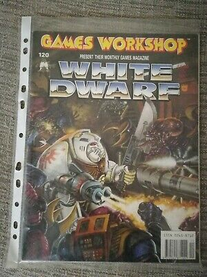 Games Workshop, White Dwarf Magazine Issue 120, December 1989