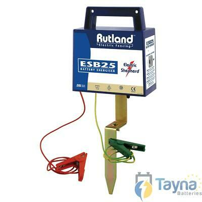 Rutland ESB25 Electric Fence Batterij Energiser