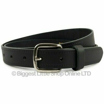 "New Quality MENS Black REAL LEATHER BELT 1"" Wide by Oakridge Sizes up to 49"" GB"