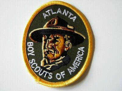 1970s Rare Vintage Baden Powell Atlanta Oval Cool Patch