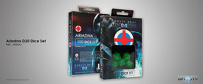 Infinity Corvus Belli Ariadna D20 Dice Set new