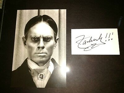 Famous universal monsters Zacherley Roland signed PP display