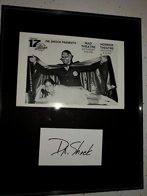 Famous universal monsters Dr Shock Philadelphia signed PP display