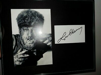Lon Chaney Wolfman famous universal monsters signed display PP