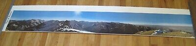 "1973 Top of Aspen Mountain Map Poster Print Panorama 14x75"" Vtg Colorado"