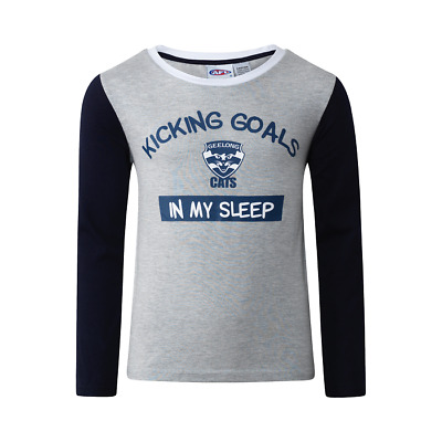 Boys & Girls Pjs 8-14 AFL Official Geelong Cats Winter Long LAST ONES
