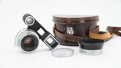 """Leica Summicron 35mm f2 Lens M-Mount """"8 Element"""" Type 1 w Goggles, Hood & Case"""
