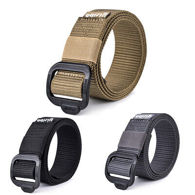 Men Military Belt Tactical Army Hunting Outdoor Nylon Canvas Training Waist Belt
