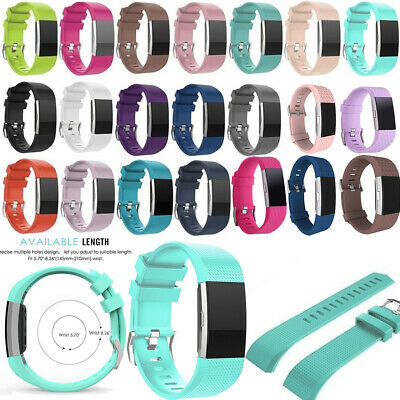 Replacement FOR Fitbit CHARGE 2/HR Silicone Rubber Band Strap Wristband Bracelet