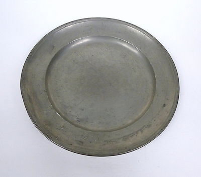 Tin Plate Plate 18 Century Marked