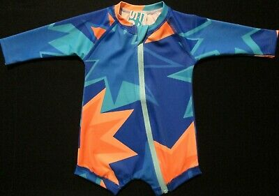 BONDS Toddler Baby Boys Bathers Swimmers Swim Suit Long Sleeve Protection Sz 1 2