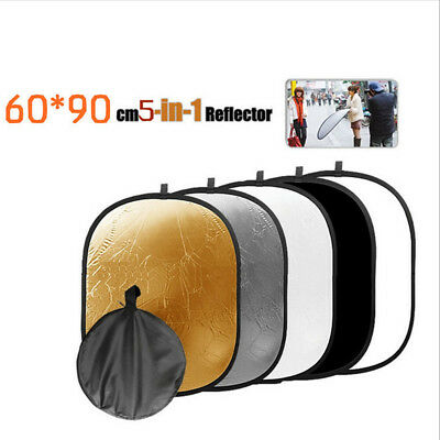 60x90cm 5in1 Collapsible Light Photography/Photo Reflector Diffuser fr Studio BM