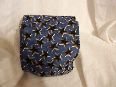 """Dog Puppy Belly Band Wrap Contoured Diaper Male Puppy Flannel lined 17"""" STARS"""