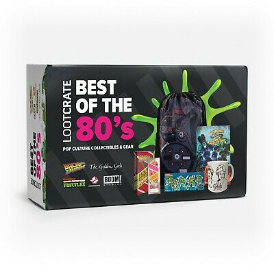 Best of 80's Loot Crate Box Back to the Future Golden Girls TMNT Ghostbusters