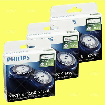 3 x Philips HQ56 Shaving Shaver Replacement Heads for PQ206 PQ208 AT600 AT610