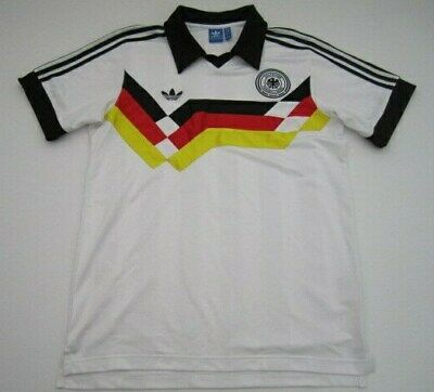 c1b804b45e5 Mens Large Germany Adidas Retro Vintage World Cup 90' white soccer futbol  jersey