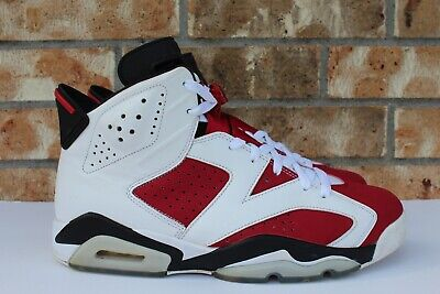 b5c02bb92d8 Men's Nike Air Jordan 6 VI Retro Carmine 2014 White Red Black Size 10  384664-