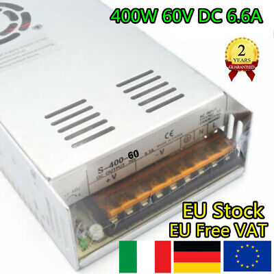 【IT】400W 60V 6.6A DC Switching Power Supply For CNC Router/Servo Motor/LED Light