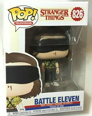 "FUNKO Pop STRANGER THINGS S3 BATTLE ELEVEN #826 4"" Vinyl Figure Netflix IN STOCK"
