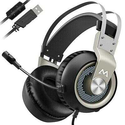 Mpow Gaming Headset, Virtual 7.1 Surround Sound Gaming Headset, 50mm Driver,