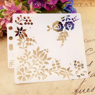 Flower Stencils Template Painting DIY Scrapbooking Embossing Stamping Album Card