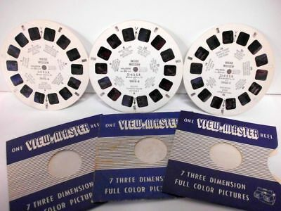 3 x VIEW MASTER pictures Inside MOSKOW I-USSR 2820A/II-USSR 2820B/III-USSR 2820C