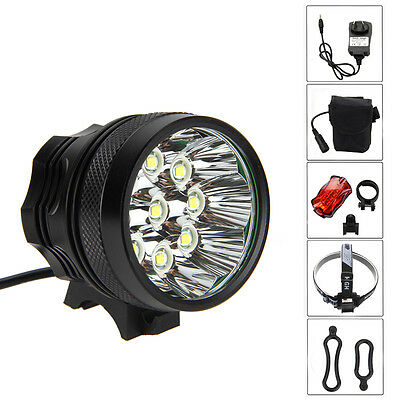 Waterproof 25000LM Bicycle Headlight Bike Front LED Lamp Taillight Rechargable