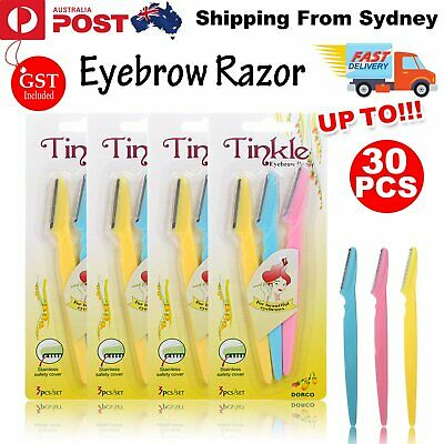 Tinkle Eyebrow Face Razor Trimmer Shaper Shaver Blade Knife Hair Remover Tool AU