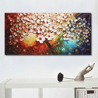 Large Flower Tree Canvas HAND- PAINTED Abstract Painting Art Wall Decor Unframed