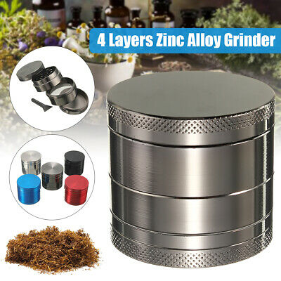 4 Layer Grinder Herb Spices Zinc Alloy Tobacco Smoke Crusher Leaf Design