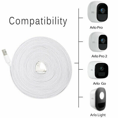 Weatherproof 9M USB Charging Cable for ARLO GO / Light + EU Adapter TH1277