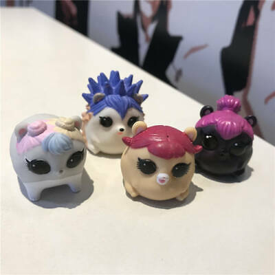 4Pcs LOL SURPRISE PETS EYE SPY Cheeky Hedgehog Squeaker Hamsters Series 4 toys