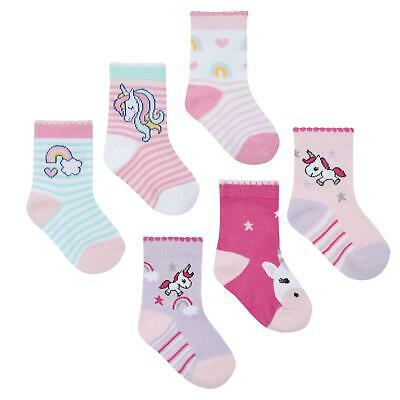 Babies 3 Pack of Novelty Unicorn Design Socks Rainbow Kids Girls Clothing
