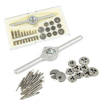 31Pcs HSS Metric Screw Thread Plugs Taps Dies Set M1-M2.5 Hand Screw Taps R3T7