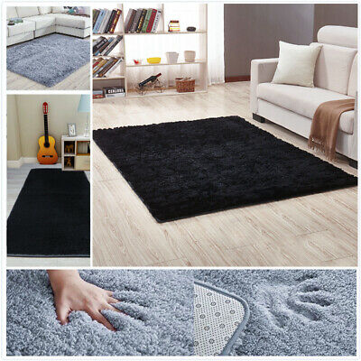 Fluffy Area Rug Living Room Bedroom Soft Carpet Floor Mat Rect Fur Shaggy Pad
