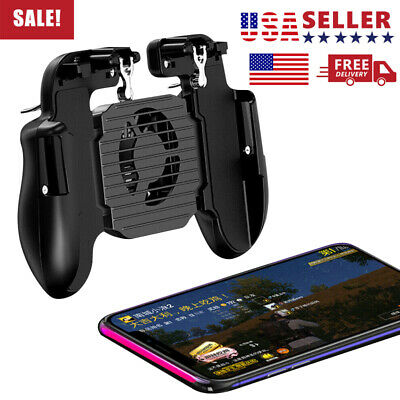 USA Mobile Phone Game Controller Joystick Gamepad+Cool Fan For IOS Android PUBG