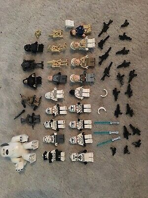 Lego Lot Of 6 Droid Minifigures Alien Robot Figures Red White Black