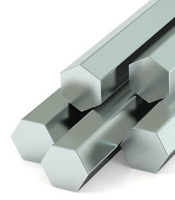 Stainless Steel , Hexagonal Bar, 303 , AF , imperial Sizes ,free cutting , 600mm