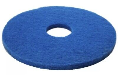 "5 x Blue 13"" Floor Cleaning Scrubbing Dry Buffing & Polishing Janitorial Pads"