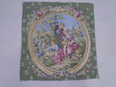 922 -Old Tapestry  Antique Wall Hanging 20 Century  46 x 50 cm