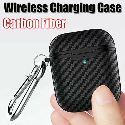Carbon Fiber ShockProof For Apple AirPods Protective Case Keychain Buckle USA 2H